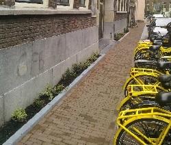 Hostel im Zentrum Amsterdam Fahrrad