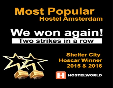 Most populair Hostel Amsterdam