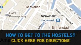 Albergues en Amsterdam Mapa
