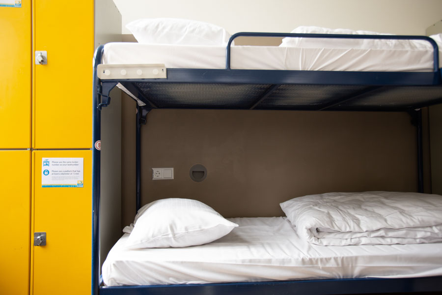 8 bed male or female dorm